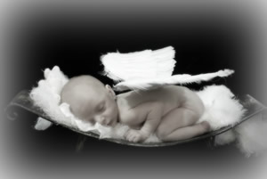 Sweet sleeping angel baby